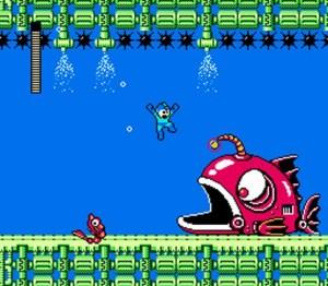 La fase de Bubble Man - con un pescado gigante