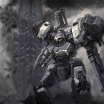 Armored_Core_Mirron_and_smoke_by_GetterDragon