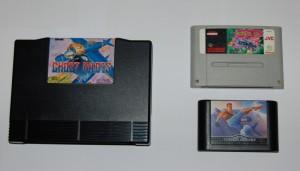 Cartucho de Neo-Geo. Comparativa.