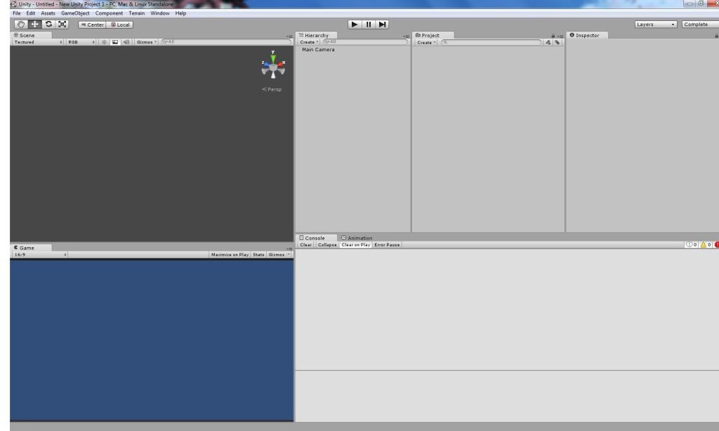 Unity 3D window