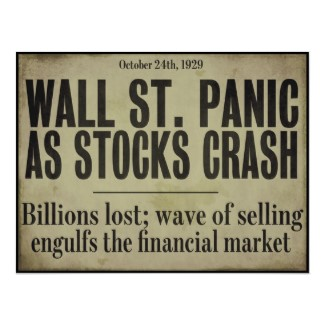 Wall St. Panic as stocks crash