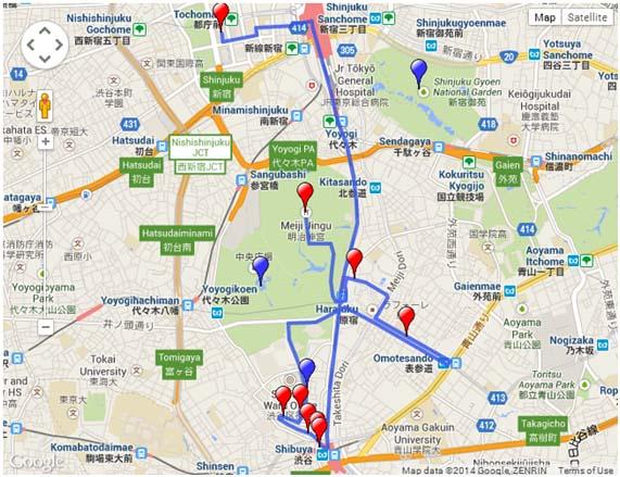 Harajuku - Shibuya - Shinjuku