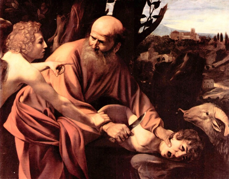 The sacrifice of Isaac's by Caravaggio.jpg