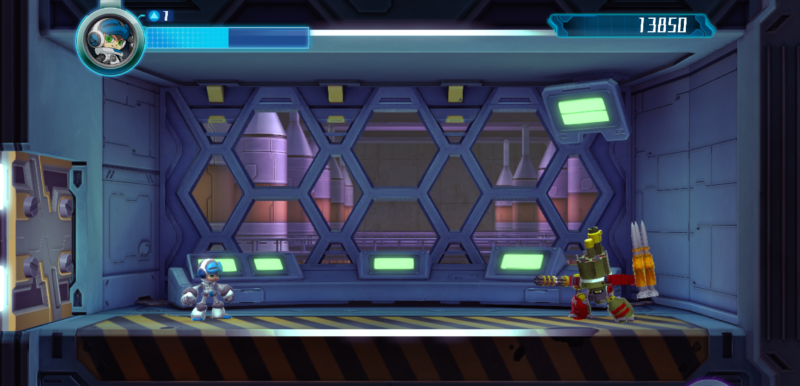 Mighty No.9 - Ejemplo de enemigo final.